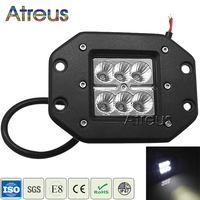 Atreus 18W Car LED Work Light Bar 12V Spot DRL For ATV Truck 4x4 Offroad 4WD