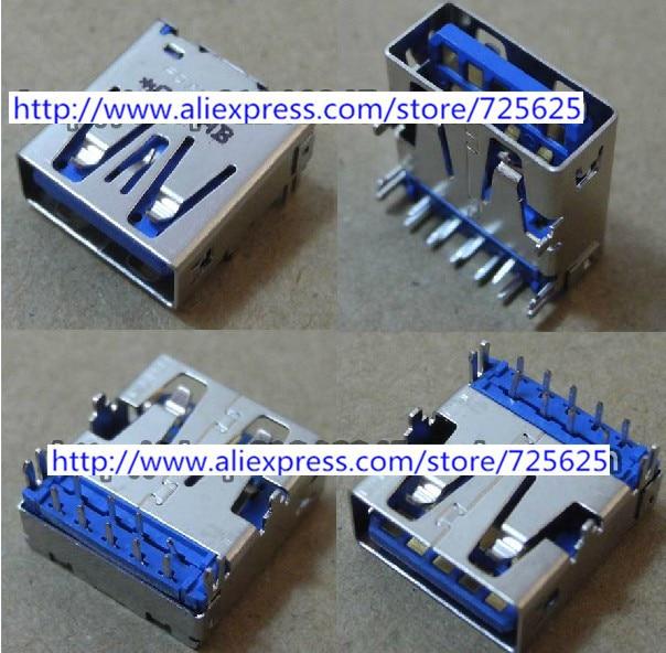 Laptop USB jack socket connector for HP 4230s motherboard 3.0 USB Port 2pcs 100pcs for laptop dell latitude e5540 usb 3 0 jack socket port connector 9 pin new
