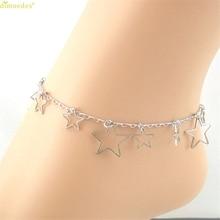 HOT Brand Silver Pentacle Star Ankle Bracelet Barefoot Sandal Beach Foot Jewelry 170321