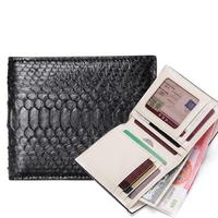 2018 Python skin handmade Men wallet Multicard Genuine Leather Coin purse Corss Pattern Women wallet