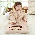 Invierno gruesa de algodón acolchado bebé sacos de dormir del bebé anti kick niños transpirable saco de dormir de algodón 0-4 años al por mayor