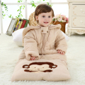 Winter thick padded cotton infant baby sleeping bags anti kick children breathable cotton sleeping bag 0-4 years wholesale