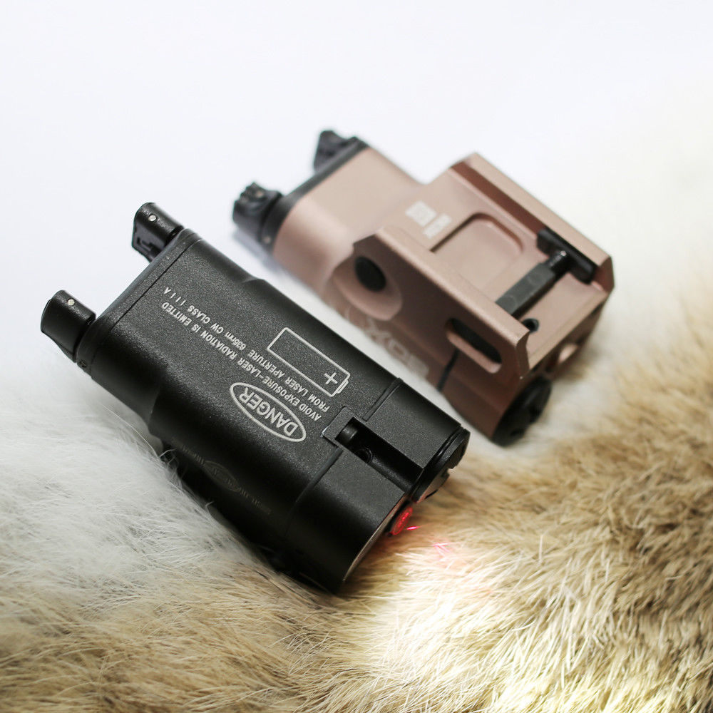 Magorui XC2 Laser Light Compact Pistol Flashlight With Red Dot Laser LED MINI White Light 200 Lumens for Glock цена