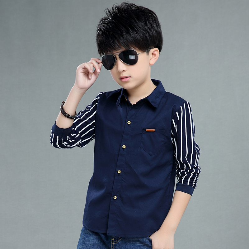 New Spring Autumn Teenager Kids Boy Shirts Children Clothing Brand Pink Cotton Shirts Fashion Boys Hot Shirts With Long Sleeves