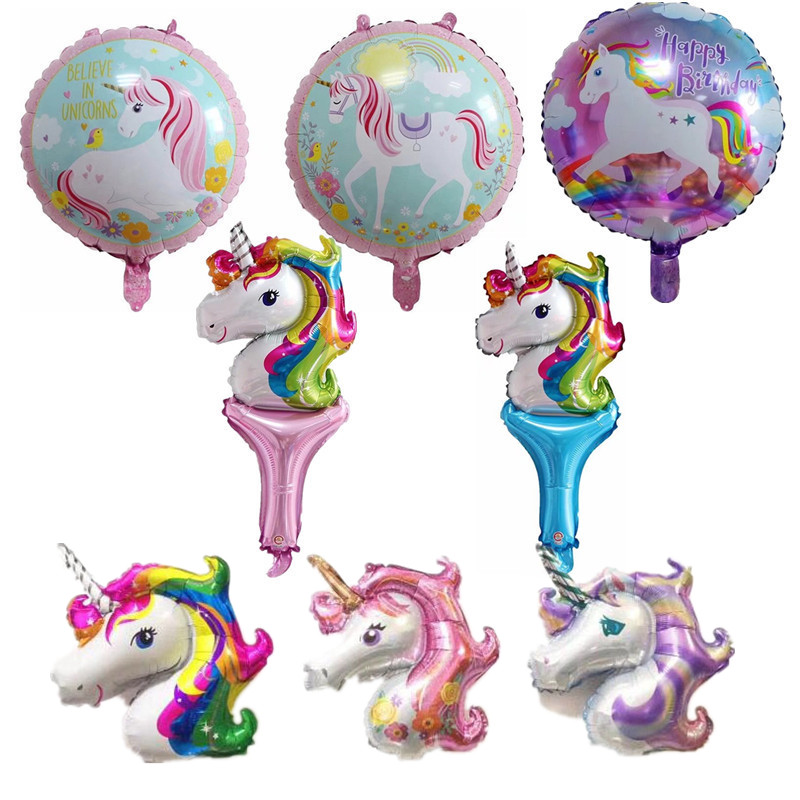 Birthday Party Decorations kids Foil Balloons New Latex Unicorn Balloon Party Supplies Wedding Baby Shower Decor Rainbow