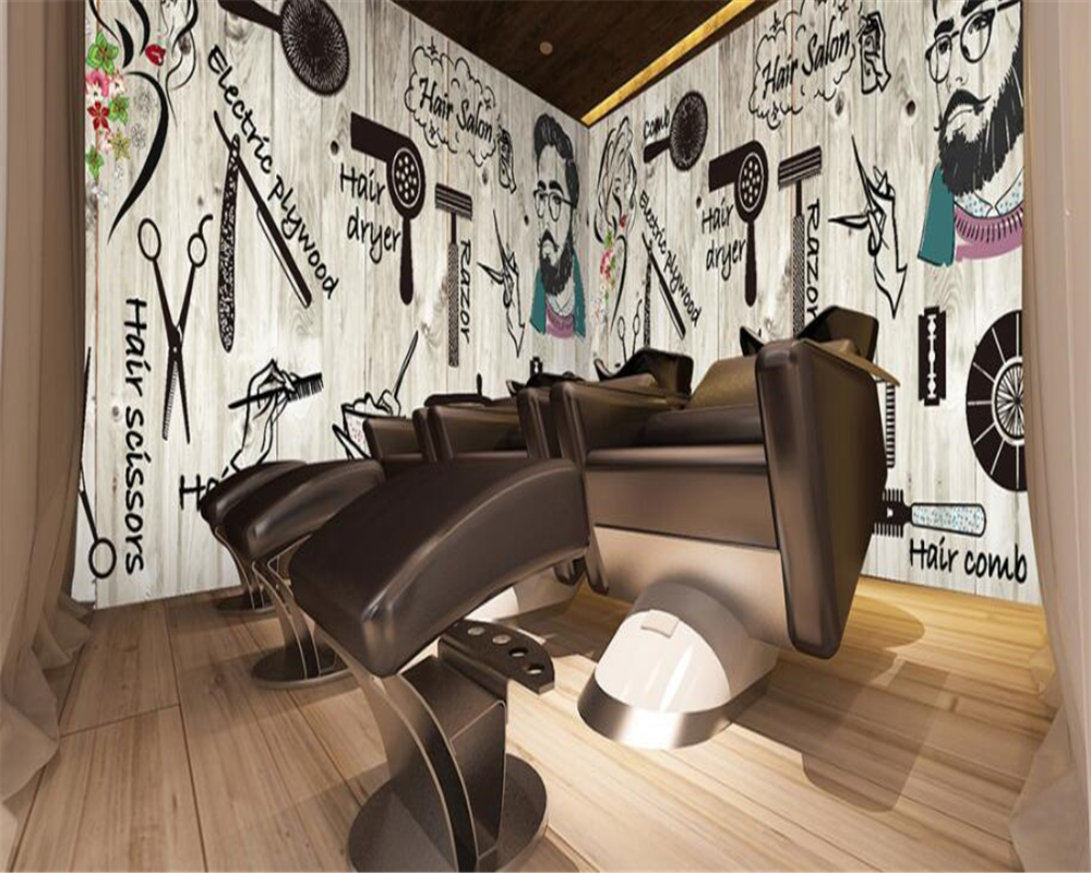 Hairdressing Salon Us 9 45 37 Off Beibehang Custom Wallpaper Nordic Wind Hair Salon Hairdressing Salon Beauty Salon Nail Shop Wallpaper Living Room Bedroom Mural In