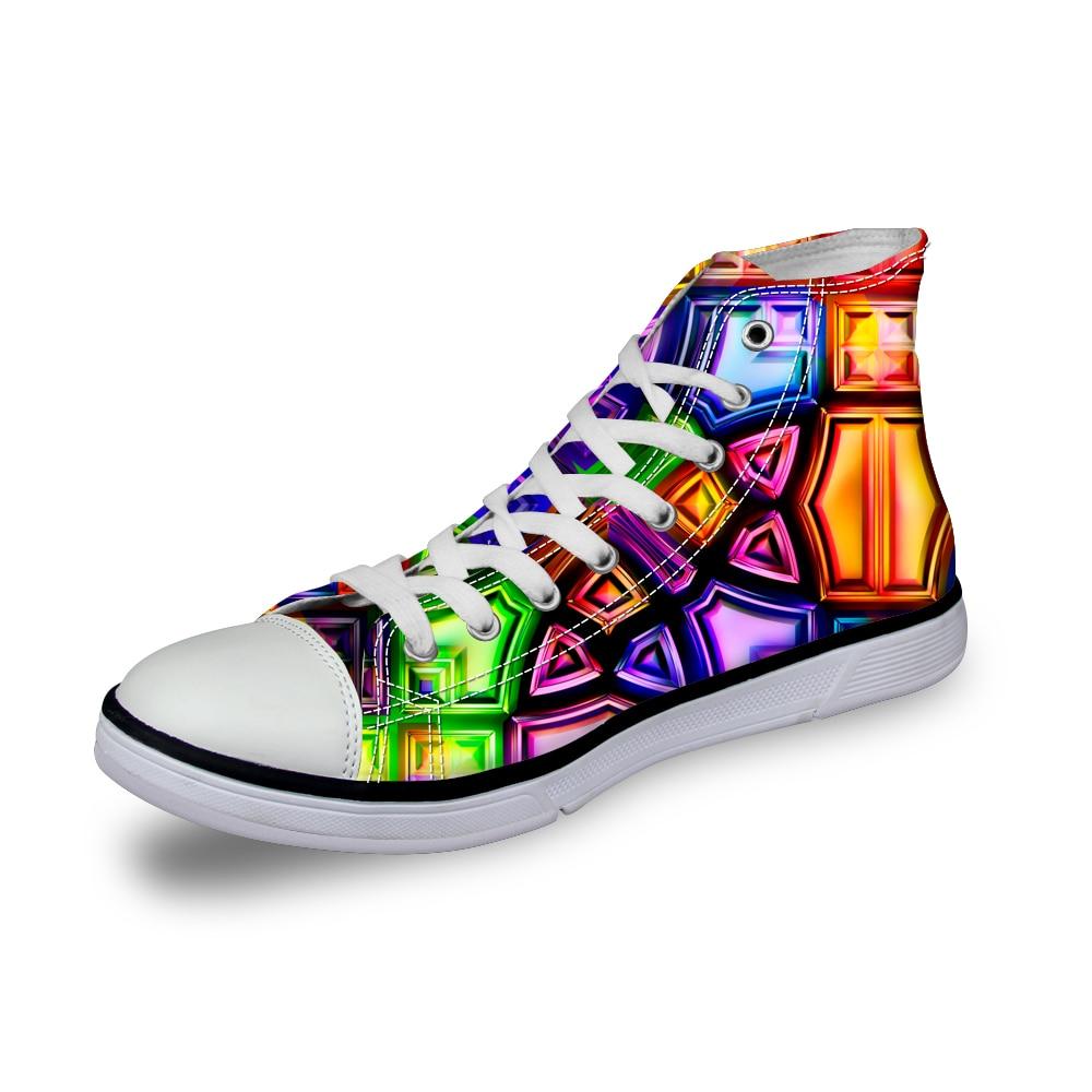 Noisydesigns Farbe Jungen Designer Schuhe 3D Druck Männer Casual - Herrenschuhe - Foto 3