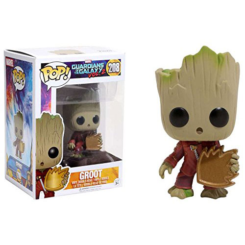 Funko Pop Vinyl Marvel Guardians of the Galaxy Vol. 2 Baby Groot With Shield Exclusive Figure 208 new funko pop guardians of the galaxy tree people groot