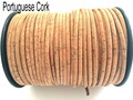 MB Cork  10Meter Original Portuguese round 3mm 5mm cork cord , Flat 5mm 10mm handcrafted cord,  natural Vegan No-900