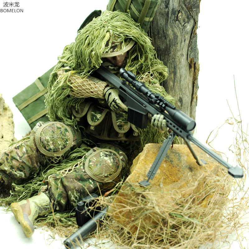 1/6 Sniper Action Figures Toy Soldier Models Set Army Man Jointed Dolls Boys Toys Birthday Gift Collection Christmas Present.