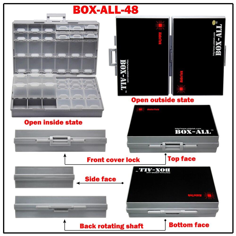 2 pçs aidetek eletrônica smd caixas de