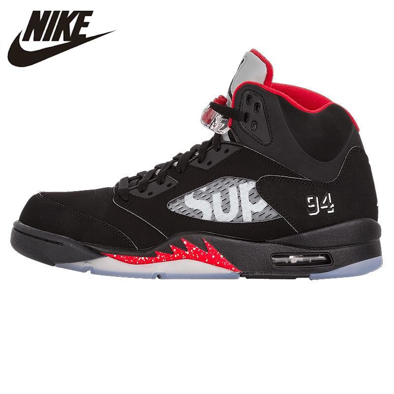 Nike Air Jordan 5 AJ5 Édition Limitée Commune basketball pour hommes Chaussures Sneakers Originales Baskets En Plein Air 824371 001