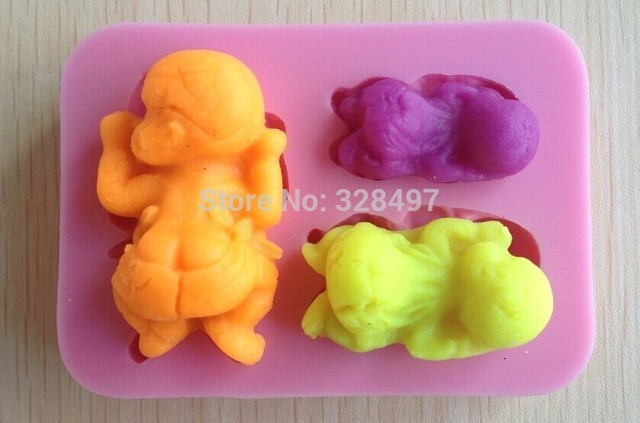 Baby Shower Silicone Molds ~ 1pcs baby shower party fondant molds silicone mold soap candle