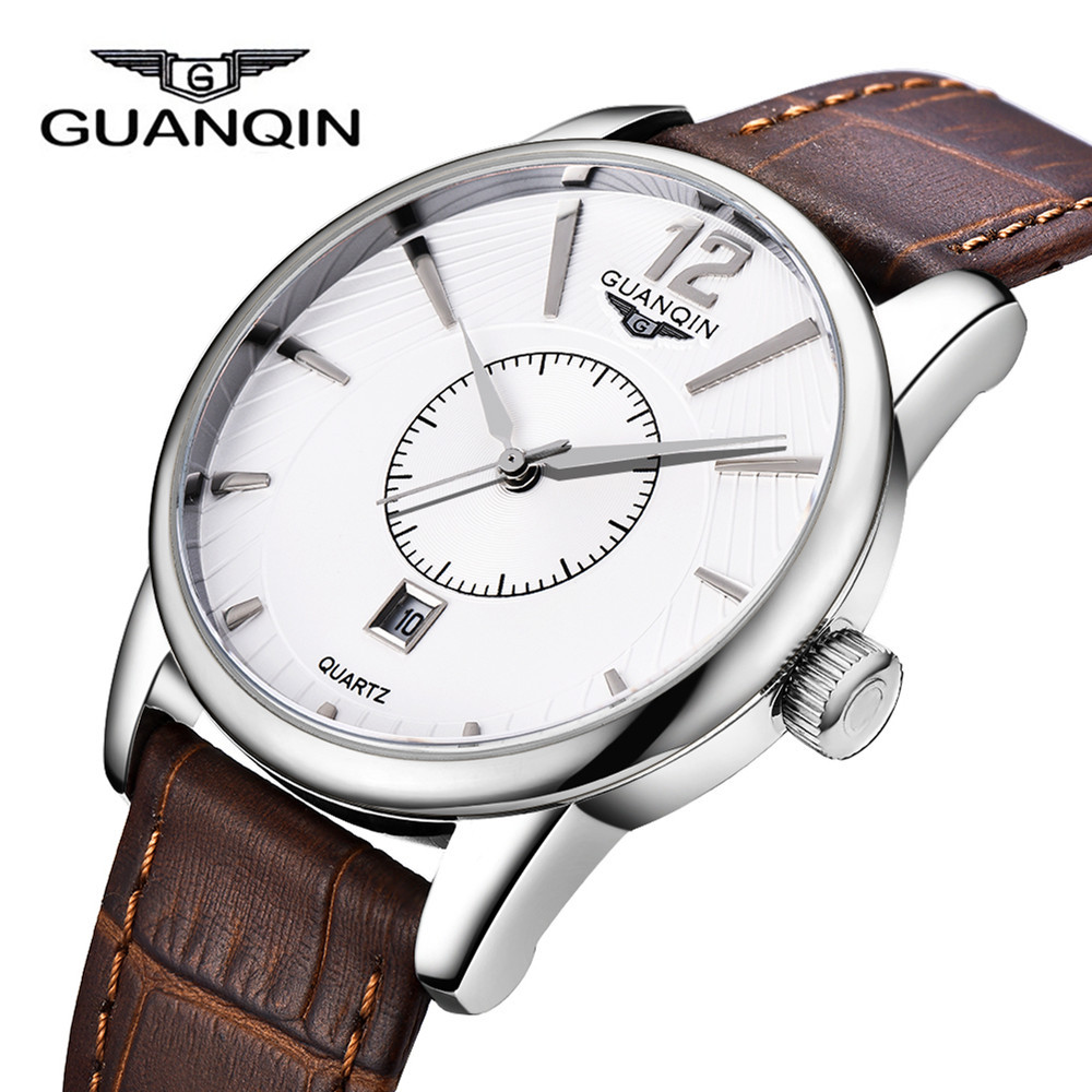 2016 New Men Quartz Hour Date Clock Men Casual Sports Watches Men Leather Wrist Military Watch