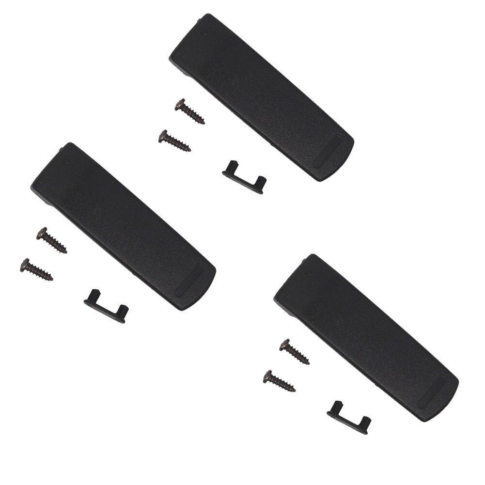 SBR-14Li Belt Clip 3Pc For Yaesu VX-8R VX-8DR FT-1DR FT-2DR FNB-101Li FNB-102Li