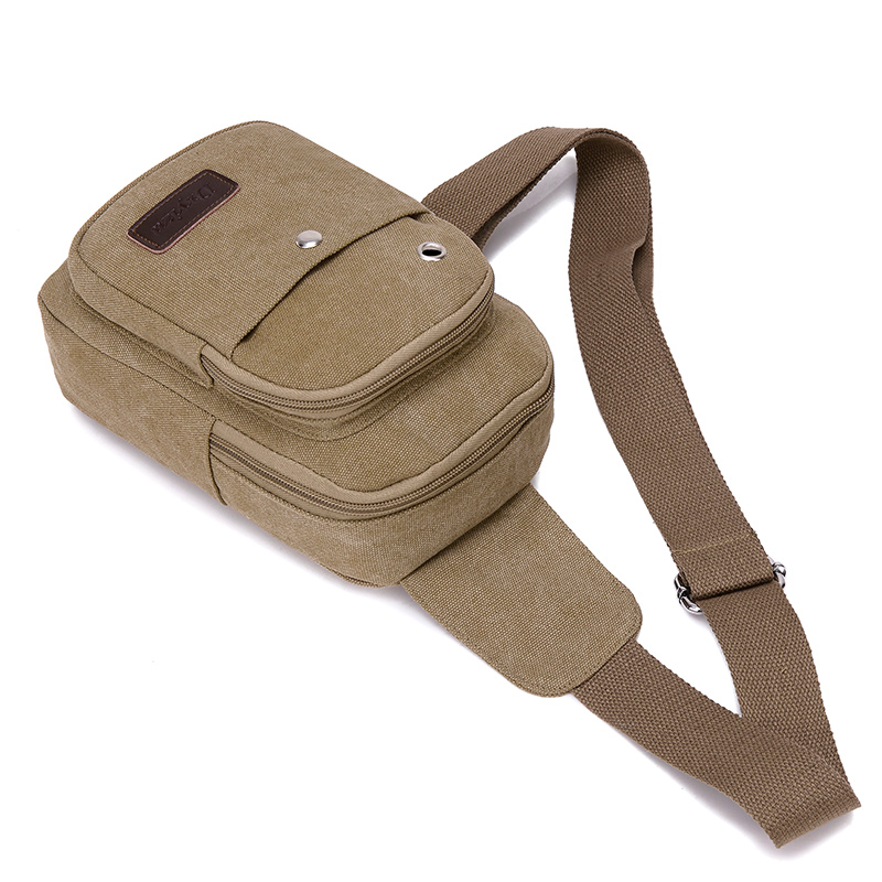 Men Daily Clutch Vintage Messenger Bag Casual Travel Rucksack Chest Bag Canvas Small Crossbody Fanny Shoulder Back Pack bolsas