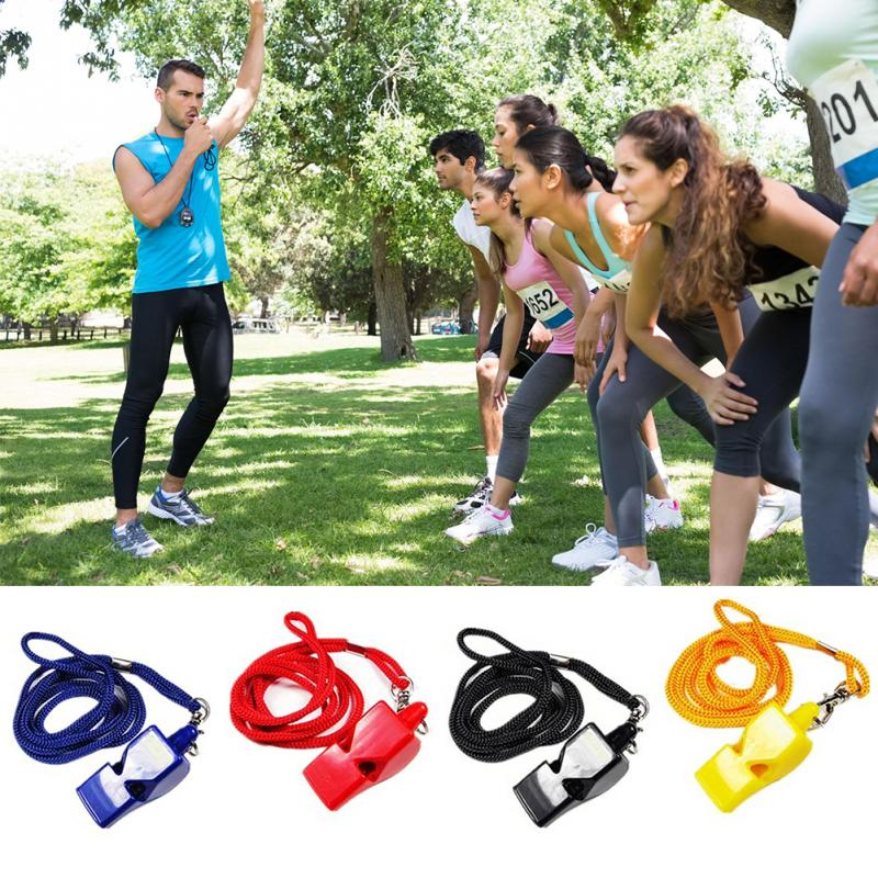 Professional 1 PC Plastic Whistles Referee Coach Survival Outdoor Football Training Sports Whistle With Loud Voice
