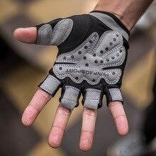 Для мужчин женщин дышащий тренажерный зал перчатки для бодибилдинга Половина Finger спортивные перчатки анти-скольжения тяжёлая атлетика Спорт тренировочные фитнес перчатки