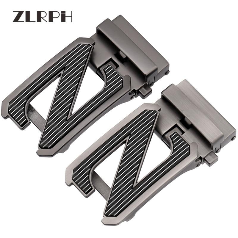 ZLRPH Fashion Letter Z Automatic Buckle Men's Leisure Leather Belt Buckle Belt Scalp Belt Buckle LY36-561860
