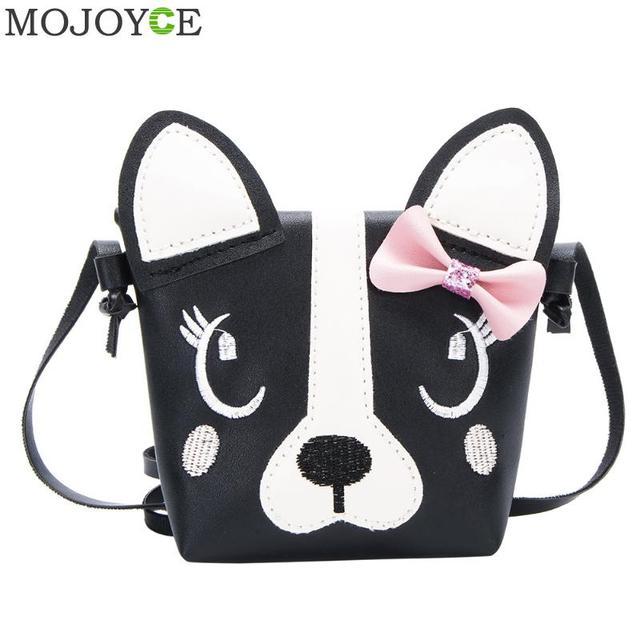 2fe5fa54fd Cute Dog Shape Children Shoulder Bag Fashion Girl Shoulder Messenger Bags  Baby PU Leather Crossbody Bags Mini Girls Cute Handbag