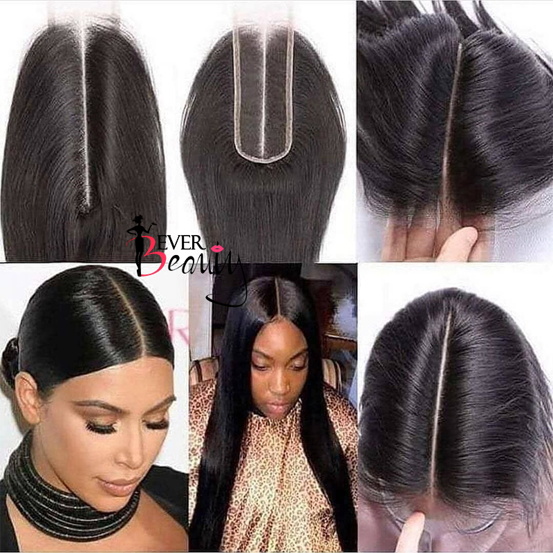 2x6 Brazilian Body Wave Lace Closure 1 Pcs Natural Color 10 22 Inch 100% Human Hair Extensions Free Shipping Ever Beauty Remy-in Closures from Hair Extensions & Wigs    2