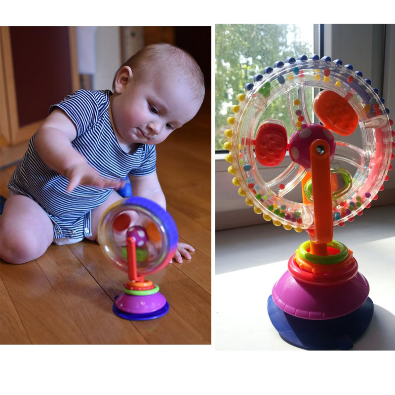 Baby Toy Three-color model Rotating Windmill Noria Stroller Dining ...