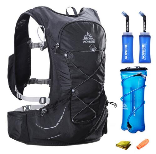 AONIJIE 15L Hydration Backpack Outdoor Sport Vest Running Bag Climbing Running Lightweight Hydration Backpack For  3L Water Bag