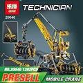 2017 Lepin 20040 1392 Unids Técnica Mecánica Serie Conjunto de Bloques de Construcción Ladrillos de Juguetes Educativos Modelo de La Grúa Móvil de Regalo 8053