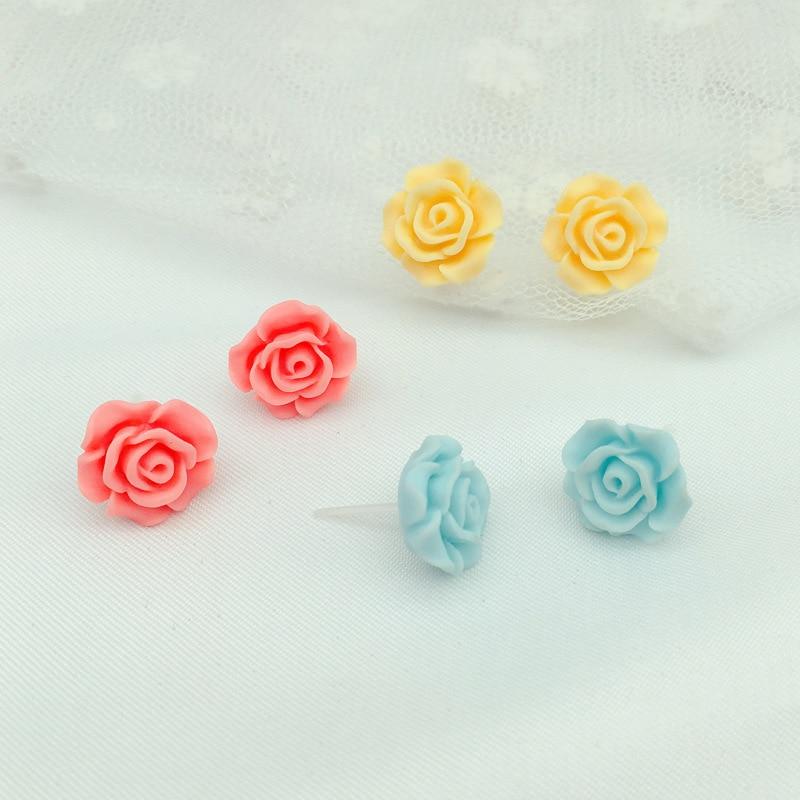 Girls clip on earrings without piercing painless kids jewellery ear clips earrings rose gift idea