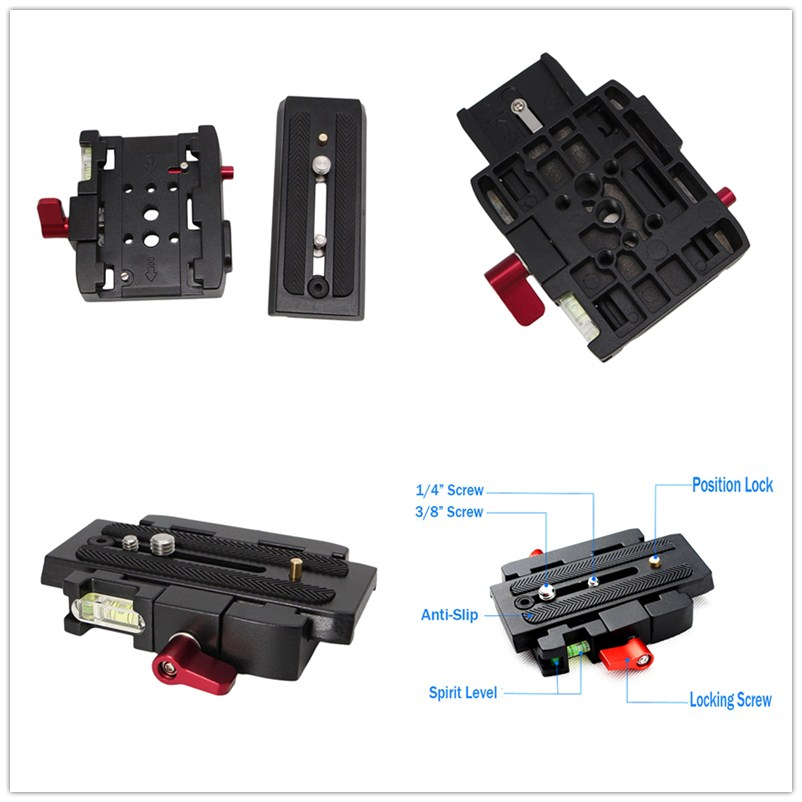 Quick Release QR Plate Clamp Adapter Base Station CL For DSLR Camera Tripod!z