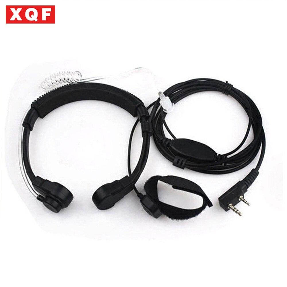 XQF Throat Mic Headset/Earpiece PTT For Walkie Talkie Baofeng UV5R Puxing 2way Radio