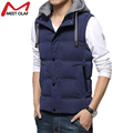 Men vest Jacket Sleeveless Veste Homme Winter Fashion Casual Coats Male Hooded Cotton-Padded Men'S Vest Men Warm Waistcoat YL676