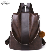 Backpack Backpack For Girls Brand Student Zipper Solid Lock Pu Black Retro School Bags For Teenagers Back Pack Travel Schoolbag