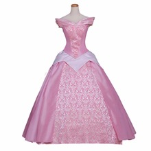 Custom Made Women's Dress Sleeping Beauty Princess Aurora Dress Costume Cosplay Pink Version for Party&Wedding