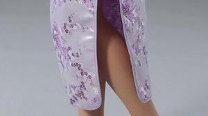 Image 5 - Pink Chinese Traditional Dress Sexy Women Satin Qipao Long Cheongsam Flower Plus Size S M L XL XXL XXXL 4XL 5XL 6XL LG03