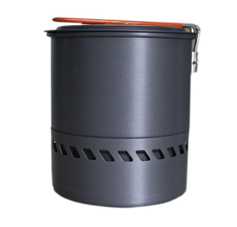 Bulin 1.5L 야영 물 냄비 야외 피크닉 주전자 열교환 기 냄비 조리기구 S2400