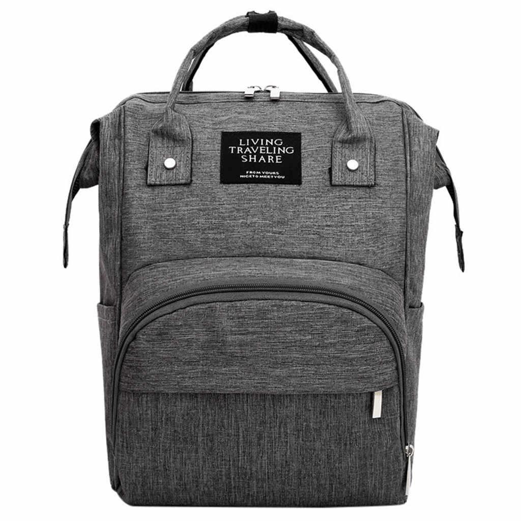 Bolsa de pañales bolsa de bebé de gran capacidad bolsa de viaje mochila de enfermería bolsa de carga USB de gran capacidad portátil