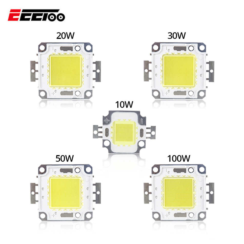 High Power LED COB Chip 10W 20W 30W 50W 100W Light Beads Integrated  Led Lamp Bulbs Warm Cold White For DIY Floodlight Spotlight