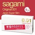 0,01 мм Sagami оригинальный сделано в Японии 5 шт./кор. ультра тонкий презервативы для Для мужчин как без ношения без латексный презерватив м Разм...