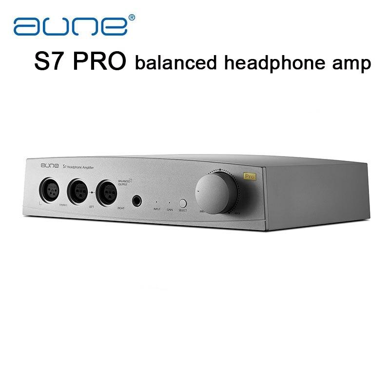 AUNE S7 Pro equilibrado amplificador de auriculares RCA XLR solo final equilibrado de entrada equilibrada 6,5mm amplificador de salida profesional amplificador de auriculares