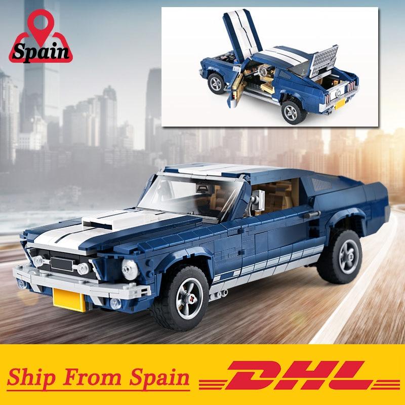 クリエーターエキスパート 21047 フォードマスタング 1967 GT500 セット互換 10265 モデルビルディングブロックレンガのおもちゃ子供のギフト  グループ上の おもちゃ & ホビー からの ブロック の中 1