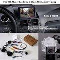 Câmera de Visão Traseira do carro Para MB Mercedes Benz Classe C W204 2007 ~ 2014-Back Up Câmera Reversa RCA & Tela Original Compatível