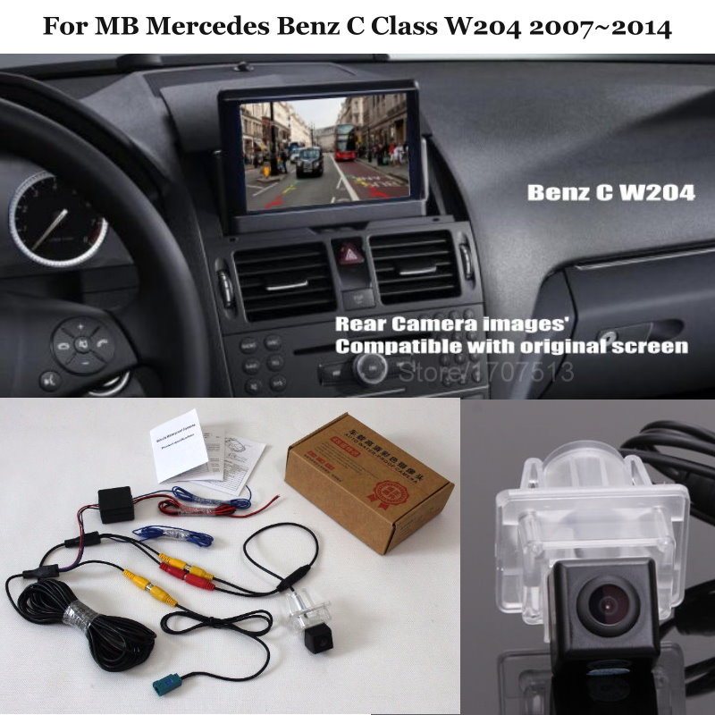 Car Rear View Reverse Backup Camera For MB Mercedes Benz C Class W204 2007~2014 -  RCA & Original Screen Compatible