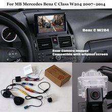Вид сзади автомобиля Камера для MB Mercedes Benz C Class W204 2007 ~ 2014-Резервное копирование Обратный Камера RCA и оригинальный Экран Совместимость
