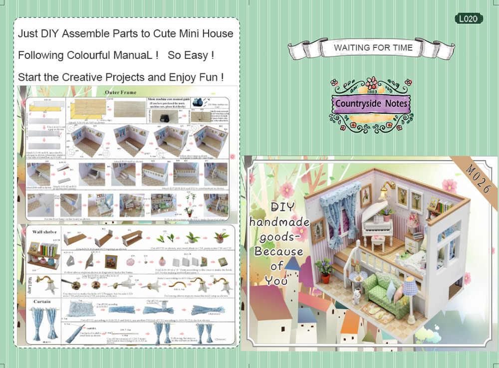 Детские игрушки кукольный дом Миниатюрный DIY кукольный домик с деревянная мебель для дома Спальня звезд неба игрушки для детей подарок на день рождения M026