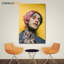 Lil Peep Music Raper Canvas Painting Art Modern Decorative Wall Pictures For Living Room Posters and Prints No Frame(China)