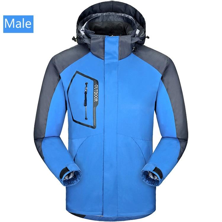 Men's And Women's Mountaineering Wear Autumn Winter Two Sets Of Breathable Lovers Ski Wear Windproof Waterproof Assault Jacket