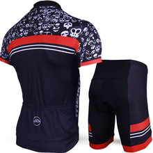Skeleton Pattern Breathable Cycling Jersey set for Men Short Sleeve Cycling Clothing Bike/Bicycle Clothes QuickDry Ropa Ciclismo