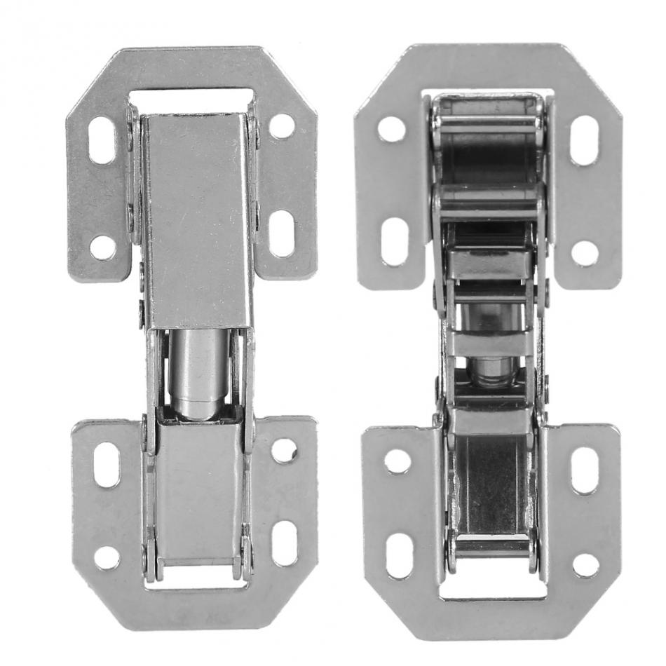10Pcs Door Hinges Easy Installation Type Cabinet Hinge Cupboard Wardrobe  Door Furniture Corner Folded Hinge(