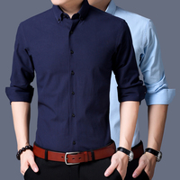 Men Cufflinks Shirt 2017 New Men S Shirt Long Sleeve Casual Male Brand Shirts Slim Fit